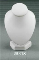 Neck Display Small 2513S White Leatherette