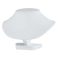 Neck Display 2503 Small White Leatherette
