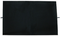 "Velvet Pad Black Foldable for Display Cases 23 1/8"" x 19 1/4"" Black"