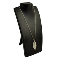 Necklace Display X-Tall Black Leatherette