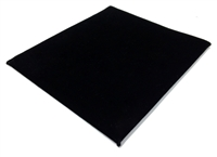 Velvet Pad Black  7.75 x 6.75 Inches