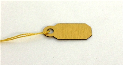 Tags Gold plastic with string 907 Package of 100