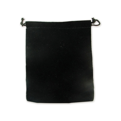 Black Velvet Drawstring Pouches