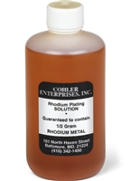 COHLER BLACK RHODIUM PLATING BATH - 1/2 GRAM SOLUTION
