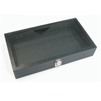 Glass Top Case with Metal Clasp