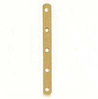 14 Karat Yellow Gold 5-Hole 5mm Spacer
