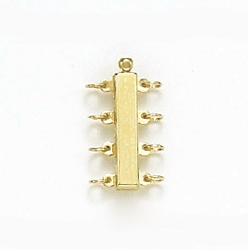 14 Karat Yellow Gold 4 Strand Bar Clasp