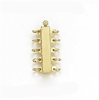 14 Karat Yellow Gold 5 Strand Bar Clasp