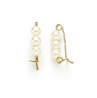14 Karat Yellow Gold Pearl Shortener with 3 Pearls