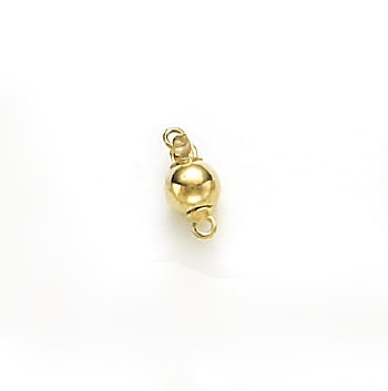 14 Karat Yellow Gold Bright 6mm Ball Clasp