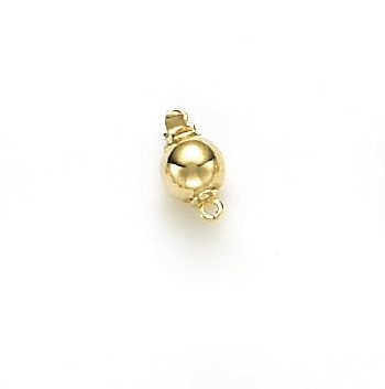14 Karat Yellow Gold Bright 7mm Ball Clasp
