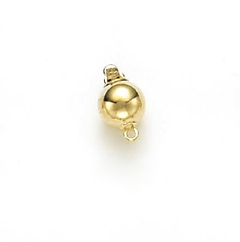14 Karat Yellow Gold Bright 8mm Ball Clasp