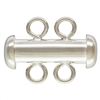 Sterling Silver Tube Clasp 2-Strand