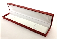 Bracelet Box in Red Leatherette 8.75 x 2 x 1.15