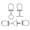 Sterling Silver Multi Strand Clasp with Toggle
