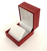 Earring Box in Red  1.75 x 2 x 1.5 ""
