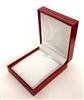 Pendant Box in Red Leatherette 2.75 x 3.15 x 1.15 ""