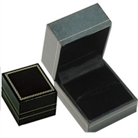 Ring Slot Box in Black 1-3/4 x 2 x 1-1/2