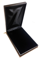 Large Necklace Box in Black leatherette  4-3/4 x 7-3/8 x 1-1/4