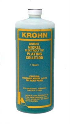 Nickel Bright Plating Solution 1 QT KROHN
