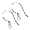 Sterling Silver Flat Fish Hook Earrings