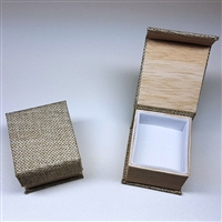 Burlap and Wood Grain Ring Box