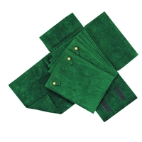 Pearl Folder 6 Inserts Green Velvet - Exquisite Quality