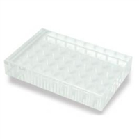 Clear Acrylic Bur Stand 40 holes holds 3/32 inch shank