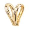 Bail Rabbit Ear 14KT Yellow or White Die-struck
