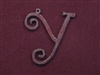 Rusted Iron Initial Y Pendant
