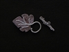 Toggle Clasp Antique Silver Colored Leaf