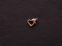 Lobster Clasp Antique Copper Colored Open Heart