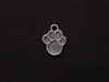 Charm Silver Colored Paw Print