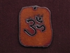 Rusted Iron Retro Tag With OM Pendant