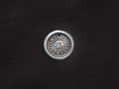 Time To Bloom Antique Silver Colored Wax Seal