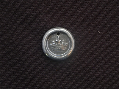 Only Room For 1 Antique Silver Colored Wax Seal