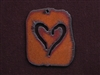 Rusted Iron Retro Tag With Heart Pendant