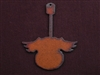 Rusted Iron Guitar With Wings Pendant