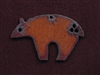 Rusted Iron Fetish Bear Pendant