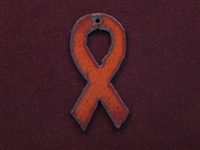 Rusted Iron Awareness Ribbon Pendant