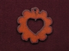 Rusted Iron Scallop With Heart Cut Out Pendant