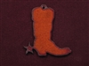 Rusted Iron Cowboy Boot Pendant