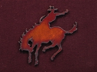 Rusted Iron Bronc Pendant