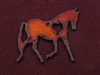 Rusted Iron Trotting Horse With Heart Pendant