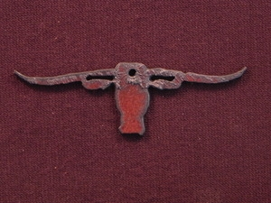Rusted Iron Longhorn Pendant