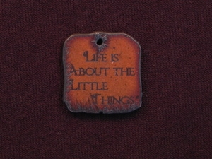 Rusted Iron Life Is About The Little Things Inspiration Pendant