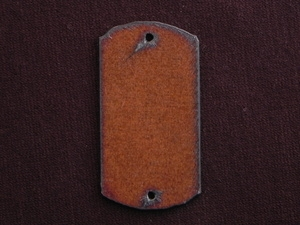 Rusted Iron Dog Tag Two Hole Pendant