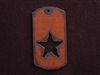 Rusted Iron Dog Tag With Star Cut Out Pendant