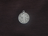 Vintage St Francis Medallion Replica (The Patron Saint Of Animals) Antique Silver Colored
