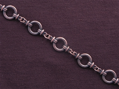 Handmade Chain Antique Copper Colored Fancy Ring Links